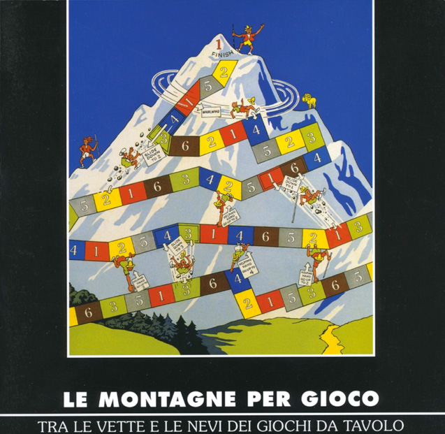 (English) Le montagne per gioco 1st edition board game to the mountain topLe montagne per gioco 1. Ausgabe Brettspiel bis zum Berggipfel